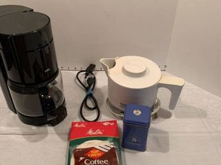 Coffee pot hot water pot with filters and tea