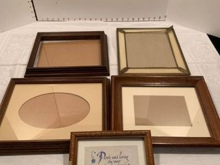 Assorted medium size picture frames and one small