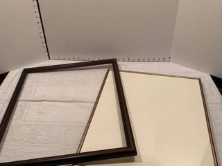 Two large picture frames