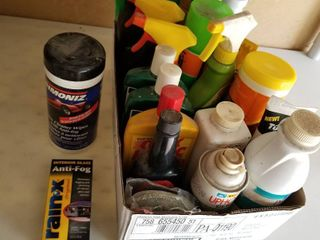 Assorted car care items