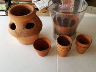Clay pots set of 9