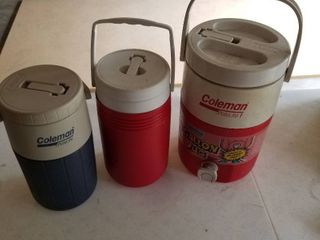 Coleman jugs set of 3