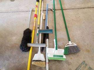 Brooms and other cleaning supplies