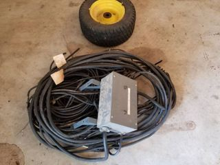 Extra wheel and wiring for outdoor lights