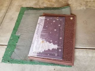 Set of three outdoor mats