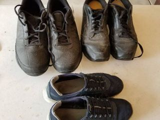 2 pairs of mens shoes size 10 and one wonens size 6