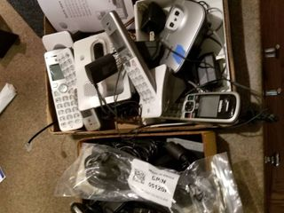 Assorted phones and cords