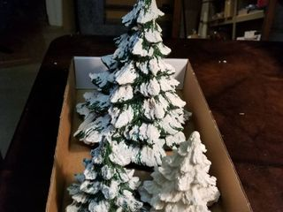 Ceramic trees set of 3