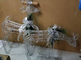 lighted reindeer set of 2