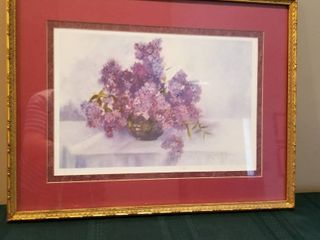 Framed Art by Jane Gering lilac 1  17 x 22