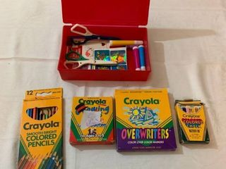 childrens Crayolas and art supplies