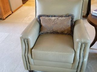 Norwalk tan leather chair