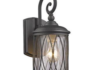 CHlOE lighting DINADAN Transitional 1 light Black Outdoor Wall Sconce 13  Height