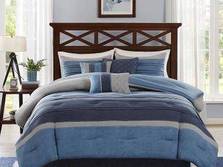 Madison Park Saban 7 Piece Comforter Set   King