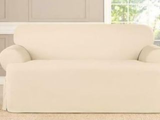 Sure Fit Stretch Suade T Cushion loveseat Cover   2 Piece