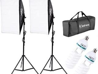 Kshioe Professional Photo Video Studio lED Dimmable Photography light w  Case