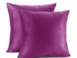 Nestl Bedding Solid Microfiber Soft Velvet Throw Pillow Covers  4 total