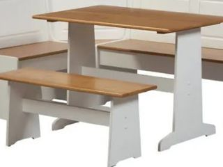 Copper Grove Middlecreek Corner Farmhouse Table and Bench