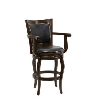 Boraam Jones Collection Black Bonded leather 29  Swivel Barstool