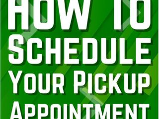 How To Schedule Pick-up