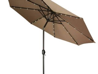 Trademark Innovations 9ft Deluxe Solar lED Patio Umbrella   Base Not Included