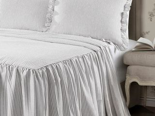 The Gray Barn lazy Acres Ticking Stripe Bedspread Set   Twin
