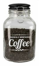 Home Basics Glass 0.8-gallon Jar w/ Vacuum Seal Lid - 'Freshly Brewed Coffee'