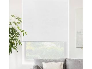 CHICOlOGY Blackout Cordless Roller Shades Snap N Glide Byssus White Retail 96 05