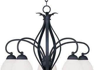 livex lighting Brookside 5 light Black Chandelier  Retail 329 90