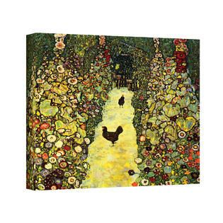 ArtWall  Gustav Klimt s Path with Chicken  Gallery Wrapped Canvas