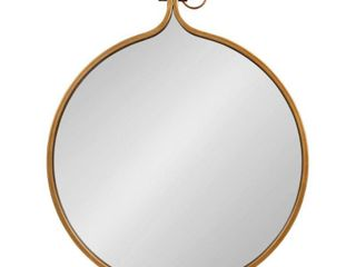 Kate and Laurel Yitro Round Wall Mirror- 23.5