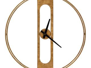 Kate and Laurel Orgo Wall Clock Gold