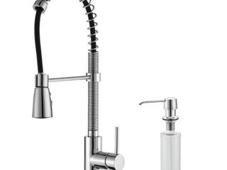 Kraus Pulldown Faucet and Soap Dispenser Retail 414 95