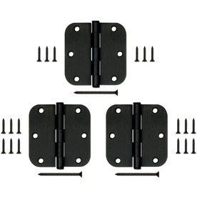 Gatehouse 3 Pack 3 1 2 in Oil Rubbed Bronze Entry Door Hinges