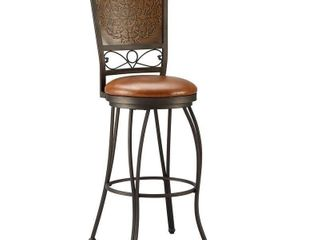 Powell Bailey Stamped Back Bar Stool
