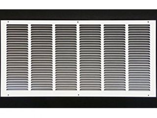 30 x 14 RETURN GRIllE   Easy Air Flow   Flat Stamped Face  White   some small bends