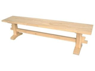 International Concepts Unfinished Trestle Bench Top