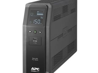 APC UPS  1500VA Sine Wave UPS Battery Backup   Surge Protector with AVR  2 USB Charging Ports  lCD Uninterruptible Power Supply  Back UPS Pro Series  BR1500MS