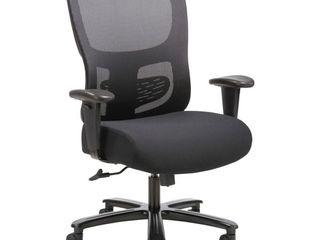 Sadie  Seating Adjustable Arm Big Tall Mesh Task Chair  1 Each  Black