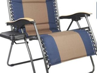 Blue and brown Zero Gravity Chair
