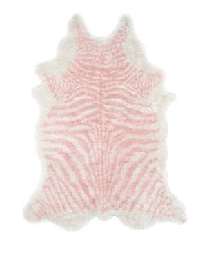 3 6 X5 6  Zebra Stripe Tufted Novelty Accent Rug Pink   Novogratz By Momeni