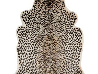 Erin Gates by Momeni Acadia Cheetah Multi Faux Hide Area Rug 5 3  X 7 10