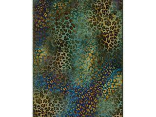 Brumlow Mills Addison Animal Printed Rug  Med Blue  3X5 Ft