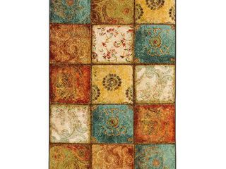 Townhouse Rugs Artifact Patchwork Area Rug  60 by 96 Inch