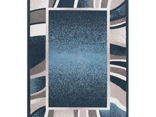Global Rug Design loma lOM03 Blue 5 2  x 7 4  Area Rug