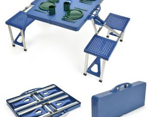 Portable Folding Picnic Table with 4 Seats by Trademark Innovations