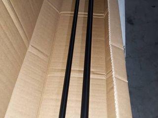 Amazonbasics Room Darkening Curtain Rod   88  To 120  Black   1010758 038 a60