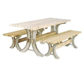 FRAME ONlY 2X4basics 90182 Picnic Table Kit  Sand  Frames Only