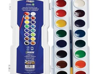 Watercolor Paints Green Red Orange Yellow Prang  11 sets