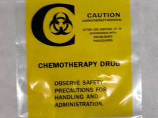 Biohazard Chemotherapy Drug Transport Bags  Unknown Quantity
